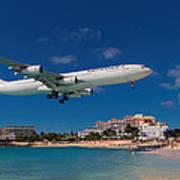 Air France At St. Maarten Poster