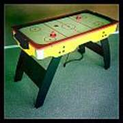 Air Hockey Table Poster by Les Cunliffe