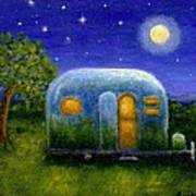 Airstream Camper Under The Stars Poster