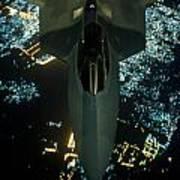 Air To Air Refueling At Night Poster