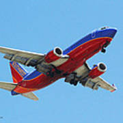 Airliner Landing At Sky Harbor Phoenix Arizona Poster