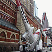 Airplane Sculpture In Philadelphia Pa - Navy S2f Poster