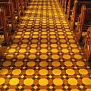 Church Aisle Patterned Floor Poster