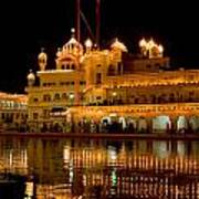 Akal Takht At Night Poster