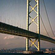 Akashi Kaikyo Bridge Sunset Poster