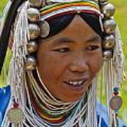 Akha Tribal Woman - Kengtung Burma Poster