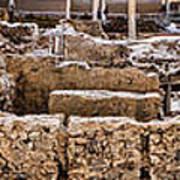 Akrotiri Archaeological Site In Santorini Poster