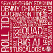 Alabama College Colors Subway Art Poster by Replay Photos