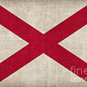 Alabama State Flag Poster by Pixel Chimp