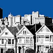 Alamo Square -  Royal Blue Poster