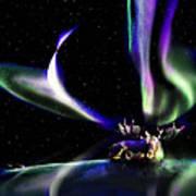 Alaska Aurora Unpredictable Spirals        Poster