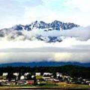 Alaska Coastal Village Poster