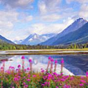 Alaskan Horizons Oil Painting Poster