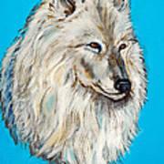 Alaskan White Wolf Original Forsale Poster
