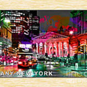 Albany New York Skyline Painting Poster