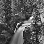 Alberta Falls In B-w Poster