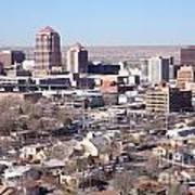 Albuquerque Skyline Poster