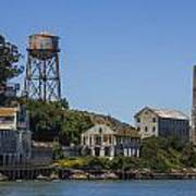 Alcatraz Dock And Water Tower Poster