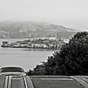 Alcatraz Island From Hyde Street In San Francisco Poster