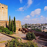 Alcazaba In Granada Poster