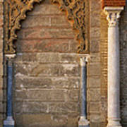 Alcazar Columns In Spain Poster