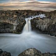 Aldeyjarfoss Waterfall North Iceland Poster