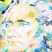 Alexander Hamilton - Watercolor Portrait Poster