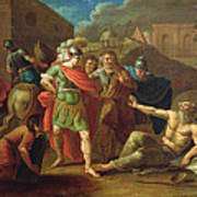 Alexander The Great Visits Diogenes At Corinth, 1787 Oil On Canvas Poster
