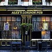 Alex's London Pub Poster
