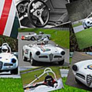 Alfa Romeo Milano Collage Poster