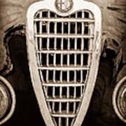 Alfa Romeo Milano Grille Emblem Poster