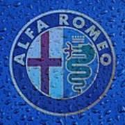 Alfa Romeo Rainy Window Visual Art Poster