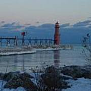 Algoma Lightohouse In The Early Evening Poster