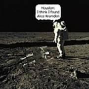 Alice Kramden On The Moon Poster