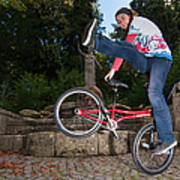 Alive And Kicking - Bmx Flatland Power Girl Poster