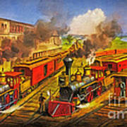 All Aboard The Lightning Express 1874 Poster