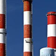 All American Industry Smokestacks Poster