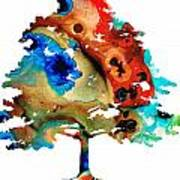 All Seasons Tree By Sharon Cummings Poster by Abstract Art
