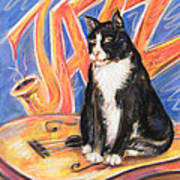 All That Jazz Cat Poster