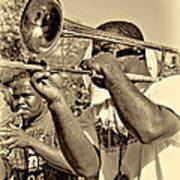 All That Jazz Sepia Poster