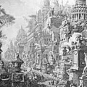 Allegorical Frontispiece Of Rome And Its History From Le Antichita Romane  Poster by Giovanni Battista Piranesi