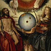 Allegory Of Christianity Oil On Panel Poster