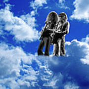 Allen And Steve In Clouds Poster