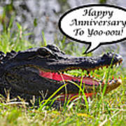 Alligator Anniversary Card Poster