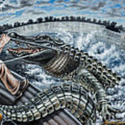 Alligator Hunt Poster