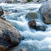 Alluvial Fan Falls On Roaring River Inrocky Mountain National Park Poster