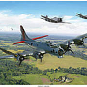 Almost Home  B-17 Flying Fortress Poster