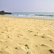 Alone At Bolonia Beach Poster