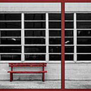 Alone - Red Bench - Windows Poster