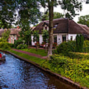Along The Canal. Giethoorn. Netherland Poster